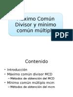 Mcm y MCD (Rosemary Torrico Bascopé)