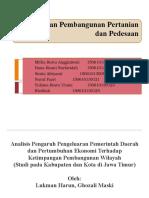 Disparitas Pembangunan Wilayah Di Propinsi Jawa Timur