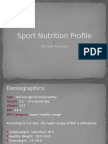 power point presentation - sports nutrition profile  2