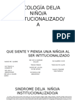 PSICOLOGÍA DEL Niño Institucionalizado