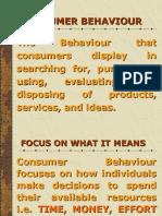 Consumer Behaviour (Basics)