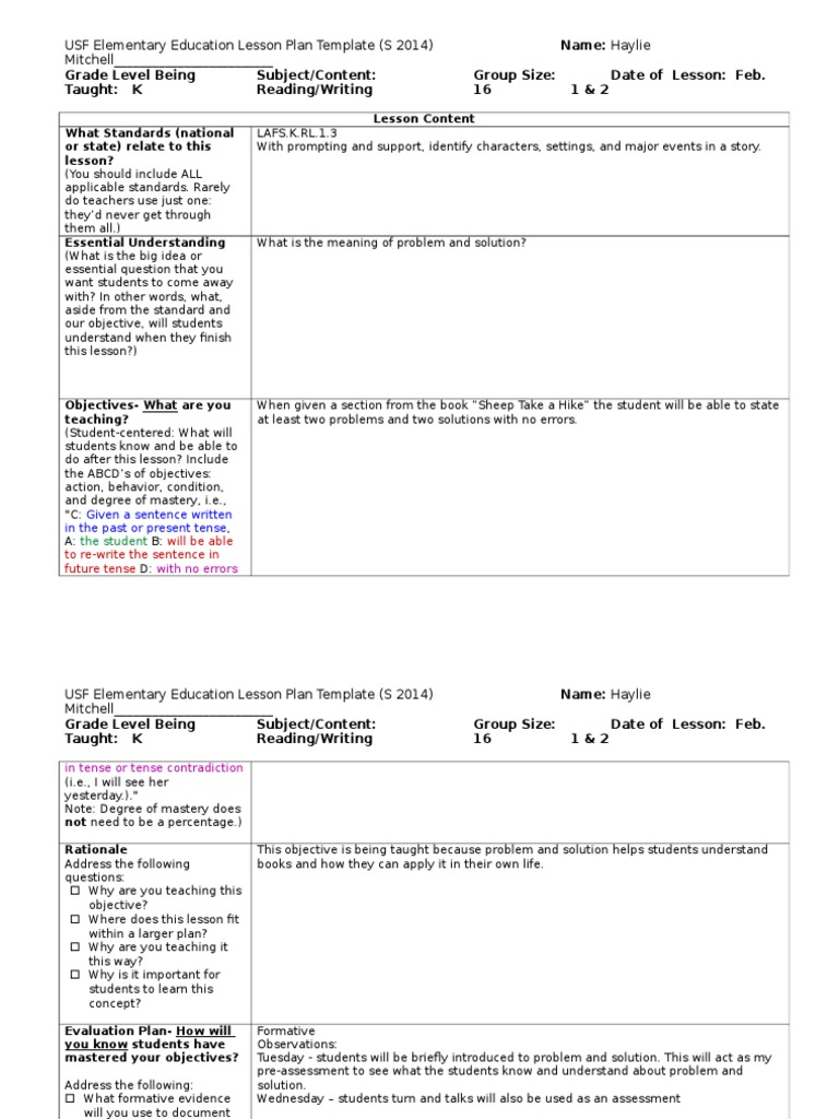 Ct Observation Lesson Plan And Reflection Lesson Plan - Lesson plan observation template