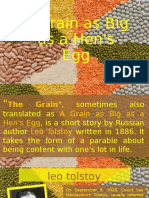 A Grain as Big as a Hens Egg