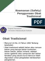Abdul Roni-Keamanan (Safety) Penggunaan Obat Tradisional.pptx