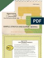 Kenmore 1581980 Manual