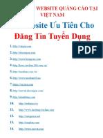 7. Danh Sach Website Cong Dong Cty Cap