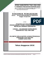 1. Dp Perencanaan Teknis Pembangunan Baru Instalasi Farmasi Kabupaten