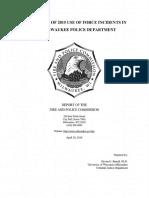 Milwaukee Police Use of Force
