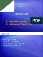 Lecture 12 HRD IE Audit