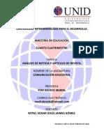Tarea 6 Análisis de Nota Periodística y Artículo de Revista.