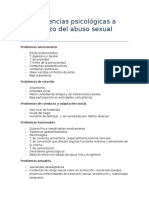 Problemas a Largo Plazo Victimas de Abuso Sexual Durante La Infancia (Resumen)