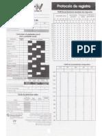 Protocolo de Registro Test (WISC-IV)