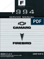 1998 pontiac chevrolet camaro firebird service manual volume 3