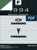 1994 Chevrolet Camaro & Pontiac Firebird Service Manual Volume 2