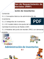 Plan de Requerimiento de Materiales (MRP)
