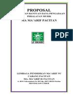 Proposal Alat MA Ma'Arif 01 Pacitan 2010