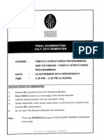 July10tbb 1073 Structured Programming & Database