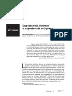 Experiencia Estética Experiencia Religiosa-guardans_este769ti