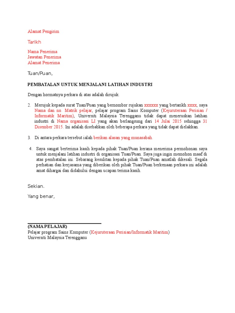 Contoh Surat Pembatalan Li