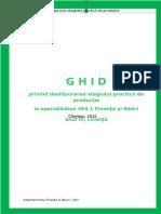 Ghid Privind Desfasurarea Stagiului Practicii de Productie La Specialitatea 364.1 Finante Si Banci ZI
