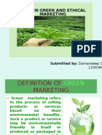 Green market and Ethical issues in marketing