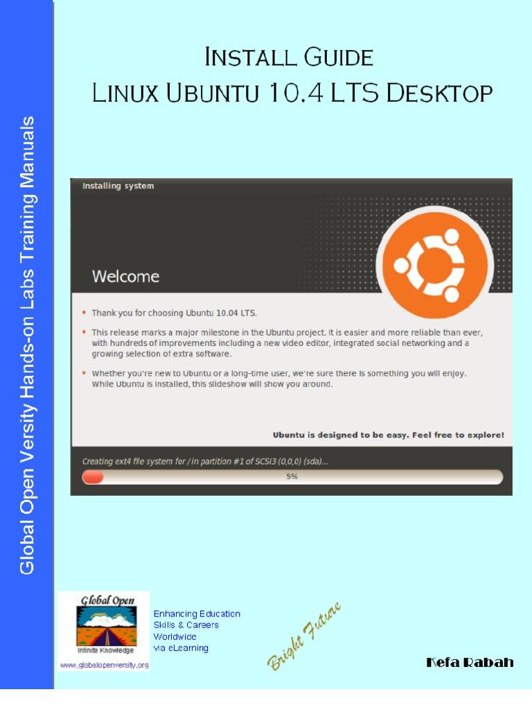 Install Guide Linux Ubuntu 10 04 LTS (Lucid Lynx) Desktop v1