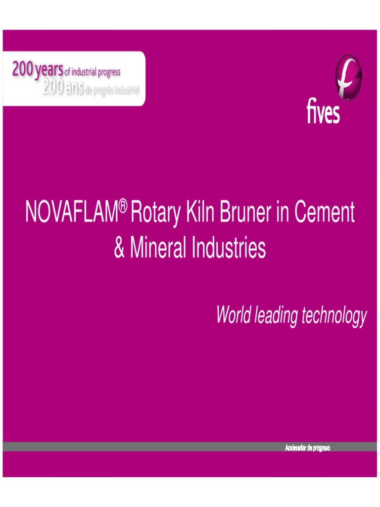 Novaflam Rotary Kiln Bruner in Cement & Mineral Industries