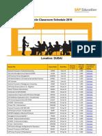 Public Course Schedule MENA 2016