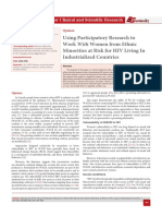 Using Participatory Research to  Work  With  Women from Ethnic  Minorities at Risk for HIV Living In  Industrialized Countries