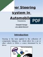 Power steering system presentation
