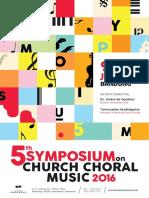 Symposium on Church Choral Music 2016 - Announcement
