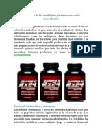 La función de los anabólicos y testosterona en la musculación