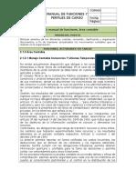 Manual de Funciones Union Temporal. Area Contable