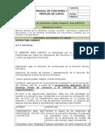 Manual de Funciones Union Temporal. Area Juridica