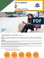 sap education professional level - fee   contents  april 2016