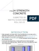 High Strength Concrete