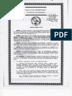 Executive Order d 78 89 California Governor 1989
