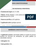 Direito Constitucional Aula 10 Remedios Constitucionais Ii63639157320