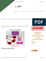 Ejemplo Manual De Funciones De Personal De Un Restaurante | Wiki Estudiantes .ORG