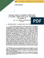 Schunemann, Bernd CuestionesBasicasDeDogmaticaJuridicopenalYDePoliti 46331