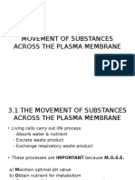 BIOLOGY FORM 4 Chapter 3 - Movement of Substances Across the Plasma Membrane