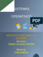 Sistemas Operativos Edwin Ernesto Portillo
