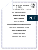 Información Previa Al Experimento Práctica 7 Complejos Metálicos Con Ligantes Ditiocarbamato