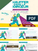 festival Chauffer dans la Noirceur 2016 - Dossier de Presse