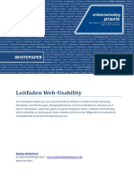 Whitepaper Leitfaden Web Usability