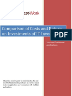 Cost Comparison and ROI of Traditional Applications vs Saas Applications