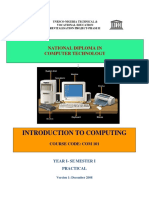COM 101 Introduction to Computer Practical Book