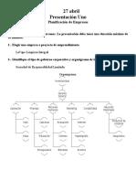 Presentacion tipo planificacion