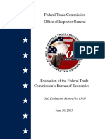 Evaluation of the Federal Trade Commission's Bureau of Economics