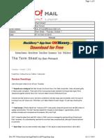 10-07-2010 Term Sheet - -Thursday, October 713